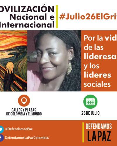 Movilización Mundial por los líderes Ambientales y Sociales de Colombia